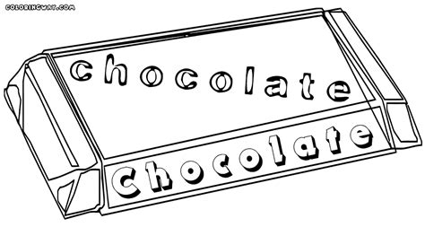 chocolate bar coloring page coloring coloring pages