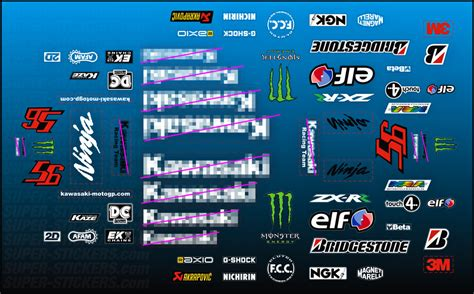Motogp Sponsoren Aufkleber by Zxrr Moto Gp Decals Stickers 4 Kawasaki Zx6r Zx9r Zx10r