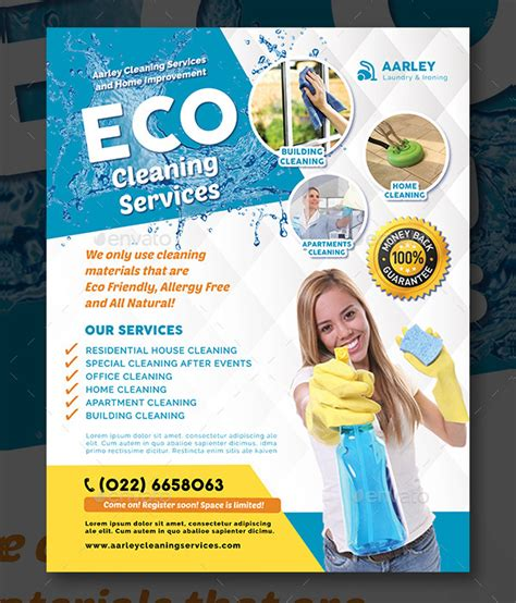 21 cleaning services flyer templates free premium