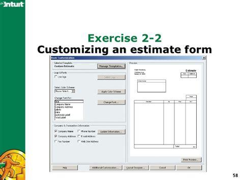 quickbooks estimate template quickbooks contractors edition