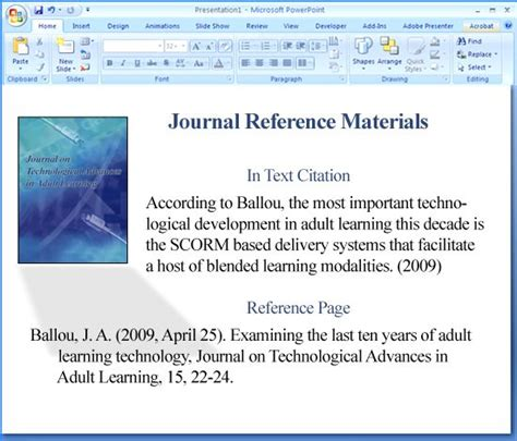 format video powerpoint how do you cite references in apa format a powerpoint