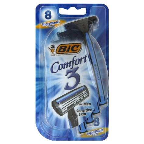 bic comfort 3 razors bic comfort 3 sensitive for men disposable shaver 8 razors