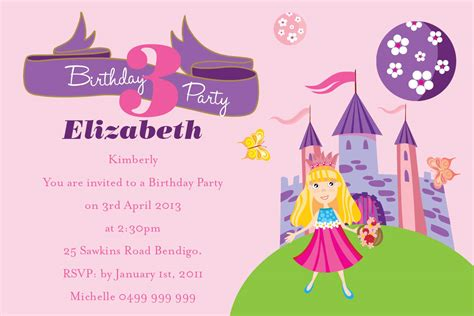 birthday invitation wording for kids drevio invitations