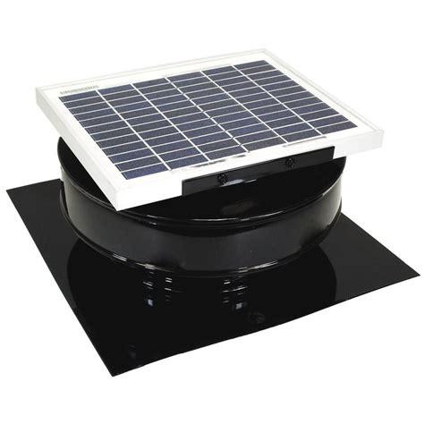 home depot solar fan active ventilation 365 cfm black powder coated 5 watt