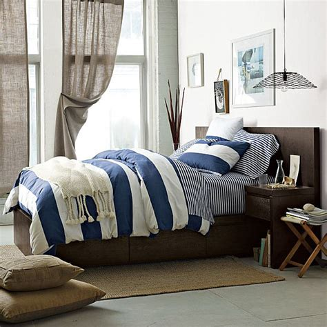 Navy And White Striped Duvet Cover boys bedding striped boys bedding the land of nod