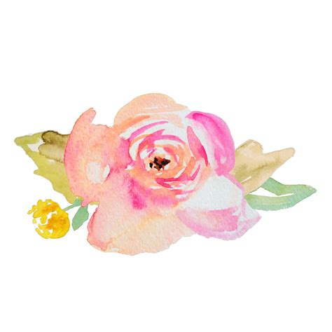 water color flowers watercolor flower svg cut file featuring painted