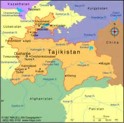 where is the country located on the map atlas tajikistan