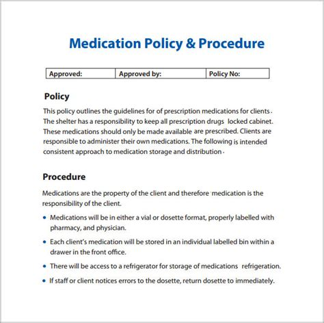 policy and procedure template for office 6 policy and procedure templates pdf doc sle templates