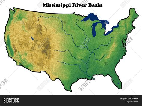 us map states mississippi river physical map of united states showing mississippi river