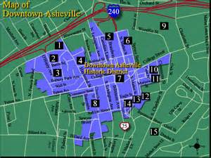 carolina map asheville printer friendly version of downtown asheville map