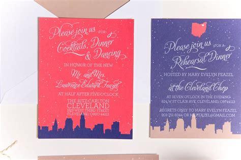 wedding invitations cleveland ohio skyline wedding invitations cleveland ohio