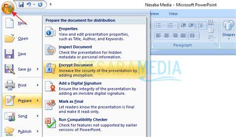 Tutorial Powerpoint 2007 Untuk Pemula Pdf | cara mengunci memberi password file powerpoint untuk pemula