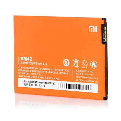 Replacement Battery For Xiaomi Redmi Hongmi 1 1s 2100mah Black redmi hongmi 1s note 1 2 bm41 bm42 bm44 end 4 17 2017 11 52 00 am