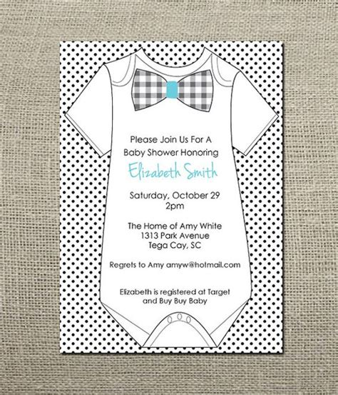 templates for onesies invitations onesie bowtie baby boy shower invitation baby shower