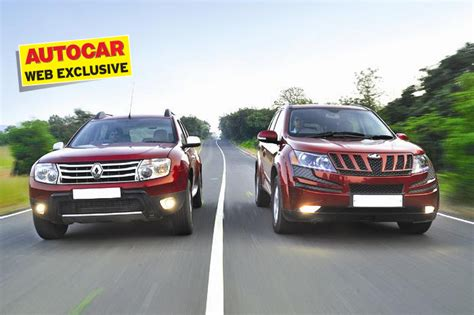 renault mahindra renault duster vs mahindra xuv500 feature autocar india