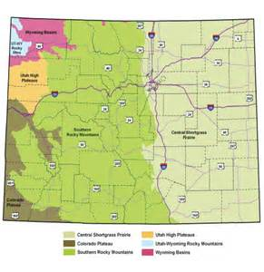 colorado regions map ecosystem and right of way management ecosystems