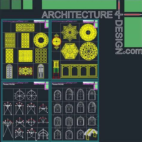 islamic pattern free dwg 340 islamic architecture ornament motifs and arches for