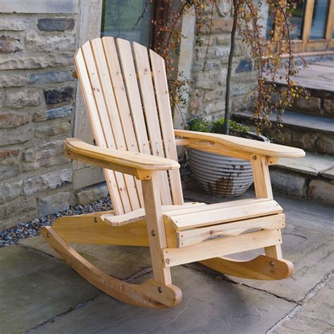 bowland adirondack wooden rocking chair  garden