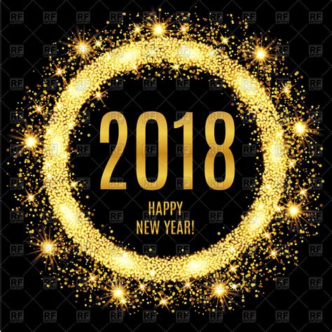 new year 2018 graphics 2018 happy new year glowing gold background royalty free