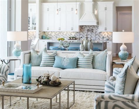 coastal livingroom cozy chic coastal living room in white aqua gray shop