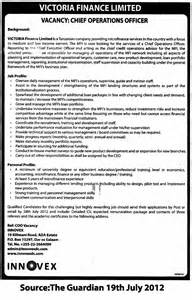 Coo Description by Chief Operations Officer Coo Tayoa Employment Portal