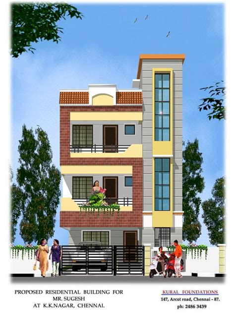 home design d simple front exterior of house india