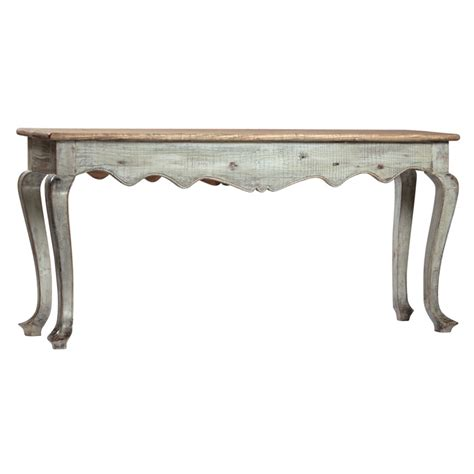 antique white console table and large antique console table made from reclaimed