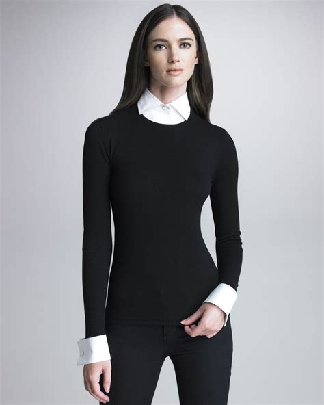 And Black Sweater ralph black label sweater with removable cuffs and