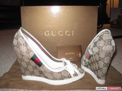 Sandal Wedges Jepit Gucci Jh87 15 shoes gucci wedges green brown heels flats