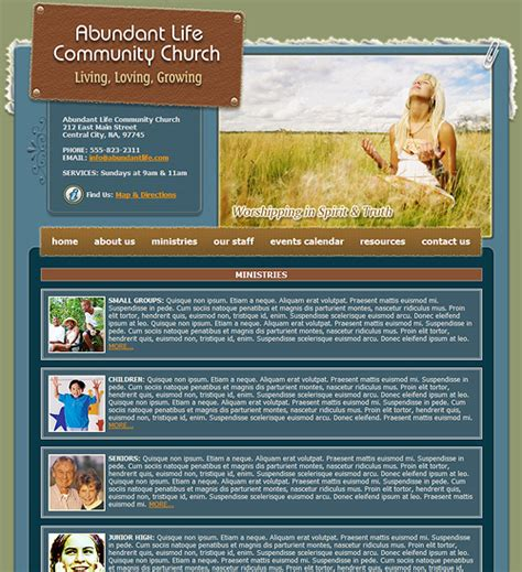 Church Web Templates church website template 227 church web template