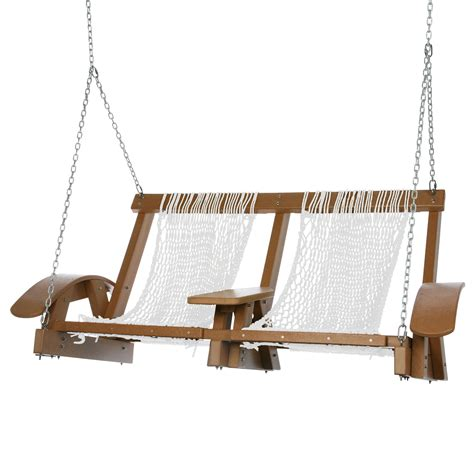 double rope swing cedar durawood curved arm deluxe double rope swing