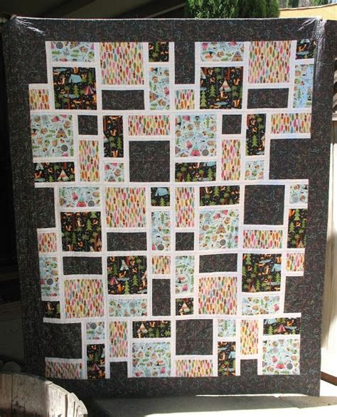quilt pattern squares and rectangles forest animal quilt made with squares rectangles 1 2