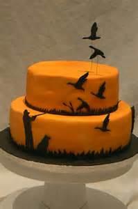 hunting cake homemade shooting cake silhouette flying ducks kids birthday cake ideas