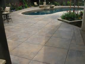 colored concrete patio home design