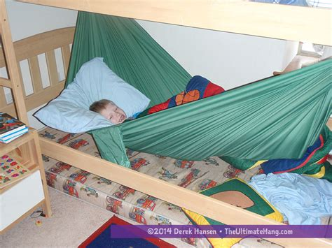 how to make a hammock bed indoors hammock in a bunk bed the ultimate hang