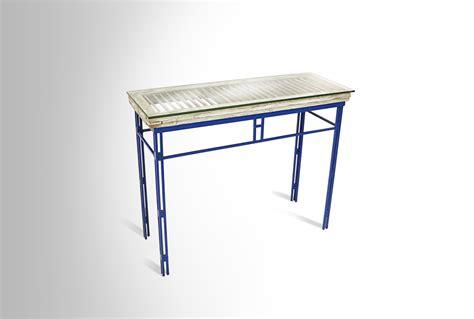 blue foyer table ari shomron designs