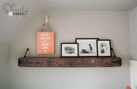 hanging floating shelves diy floating rustic shelf or mantle shanty 2 chic