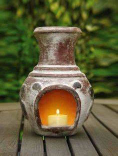 chiminea with candles candles candle holders and minis on