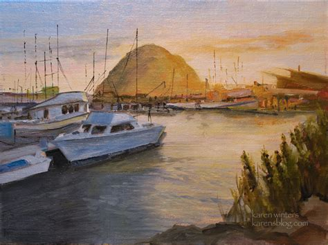 boat harbour rock fishing morro bay paintings morro rock paintings california