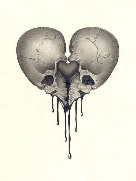 skull heart via rocknrox instaskulls pinterest