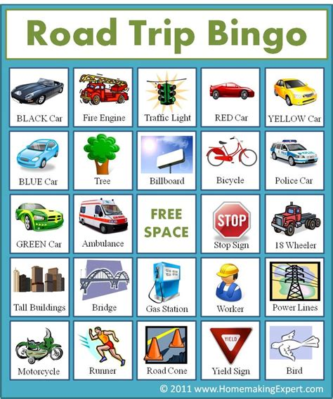 printable road trip bingo free road trip bingo game for kids homemaking expert