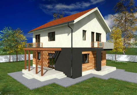 small two story house plans with balconies studio