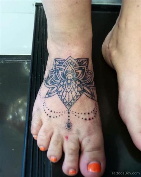 mandala ankle tattoo image result for flower mandala on foot inked up
