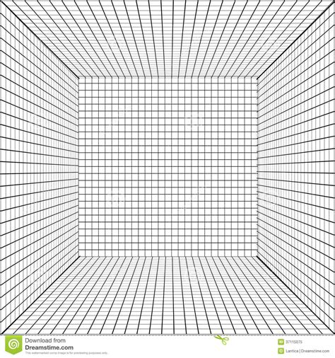 Room Design Template Grid background with a perspective grid stock vector image