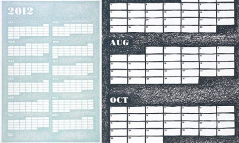 doodle calendar availability 2012 modern calendars design milk