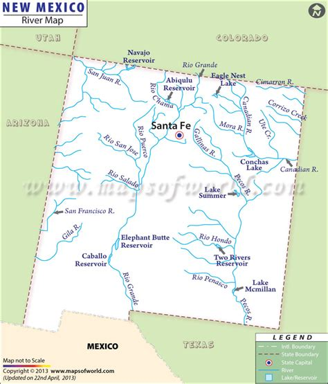 river maps of usa new mexico rivers map rivers in new mexico