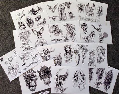 tattoo sheets designs flash design sheets ebay