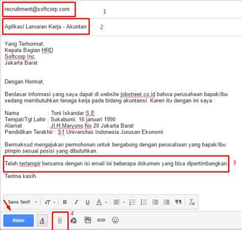 format penulisan email formal 10 contoh surat lamaran pekerjaan yang baik dan benar