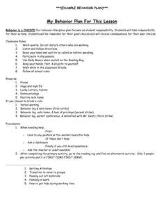 18 Best Images Of Behavior Modification Plan Worksheet Sle Behavior Intervention Plan Behavior Intervention Template
