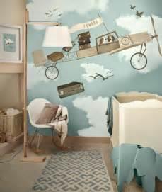 kinderzimmer tapete ideen niedliche babyzimmer wandgestaltung inspirierende